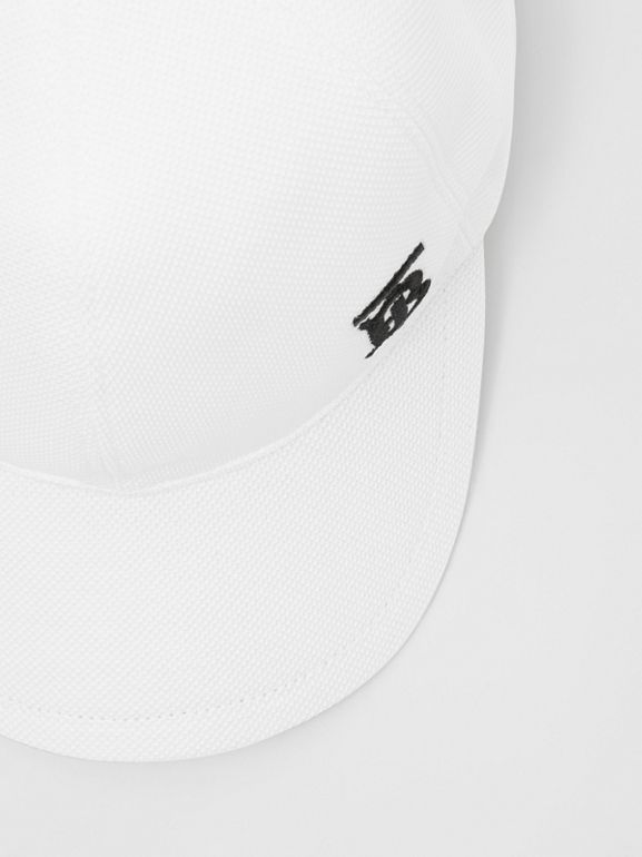 Monogram Motif Baseball Cap in White | Burberry - cell image 1