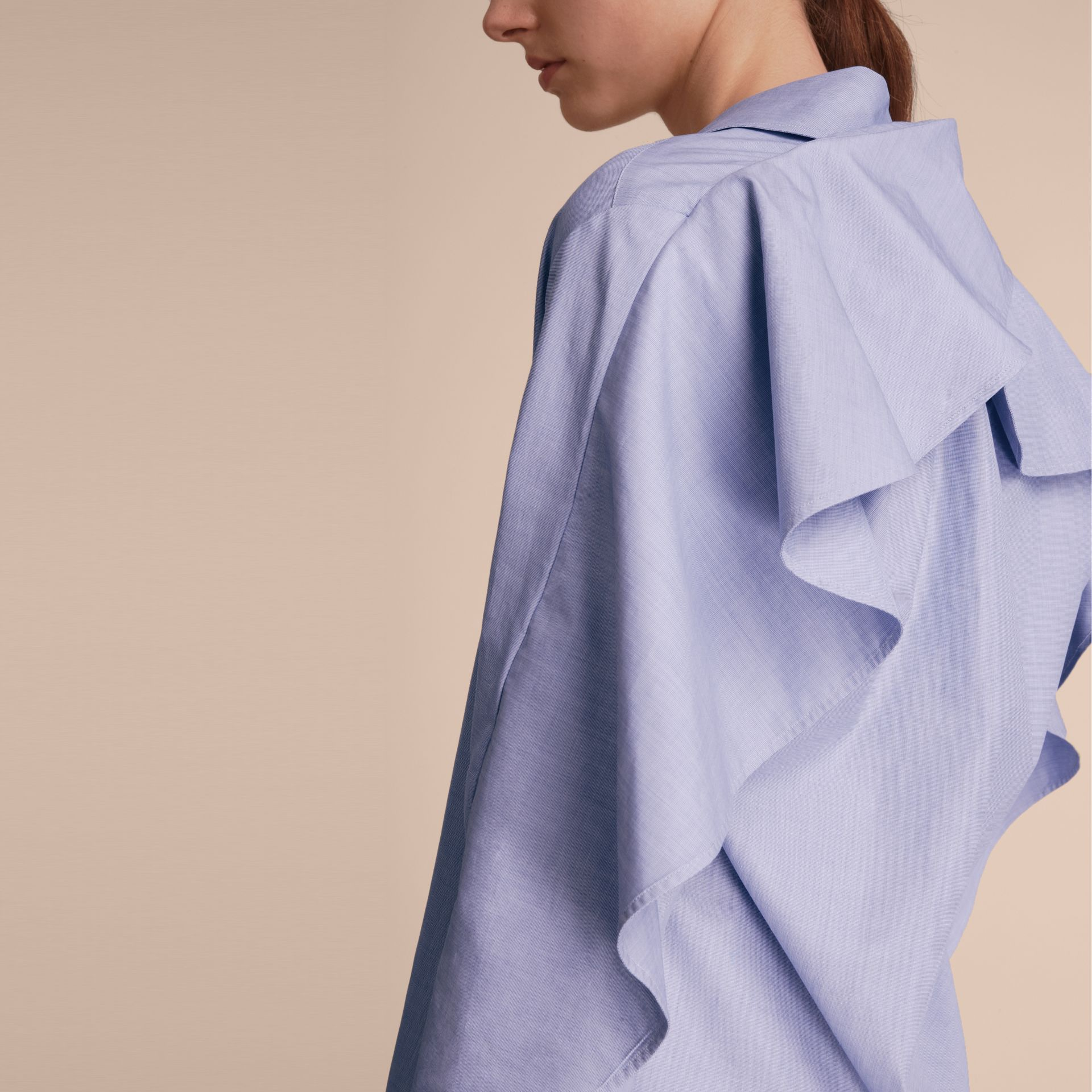 Ruffle Detail Cotton Shirt - gallery image 6