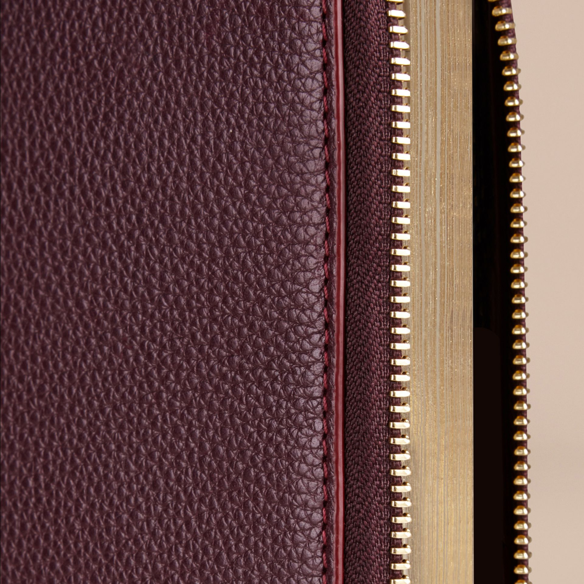 Ziparound Grainy Leather 18 Month 2016/17 A5 Diary in Dark Amethyst - gallery image 2