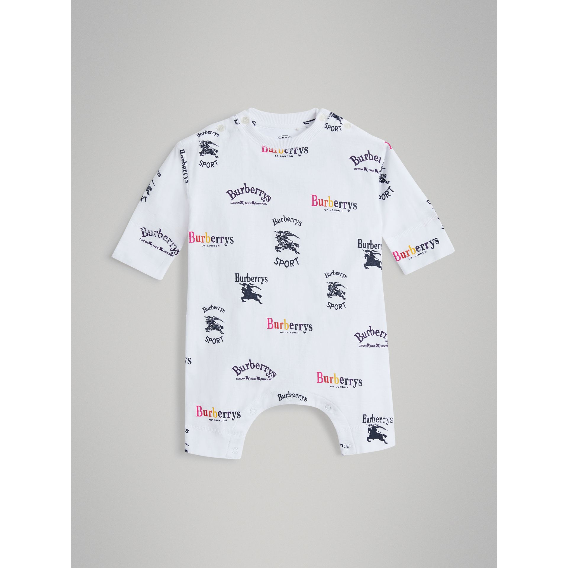 Archive Logo Two-piece Baby Gift Set in White - Children | Burberry - gallery image 2