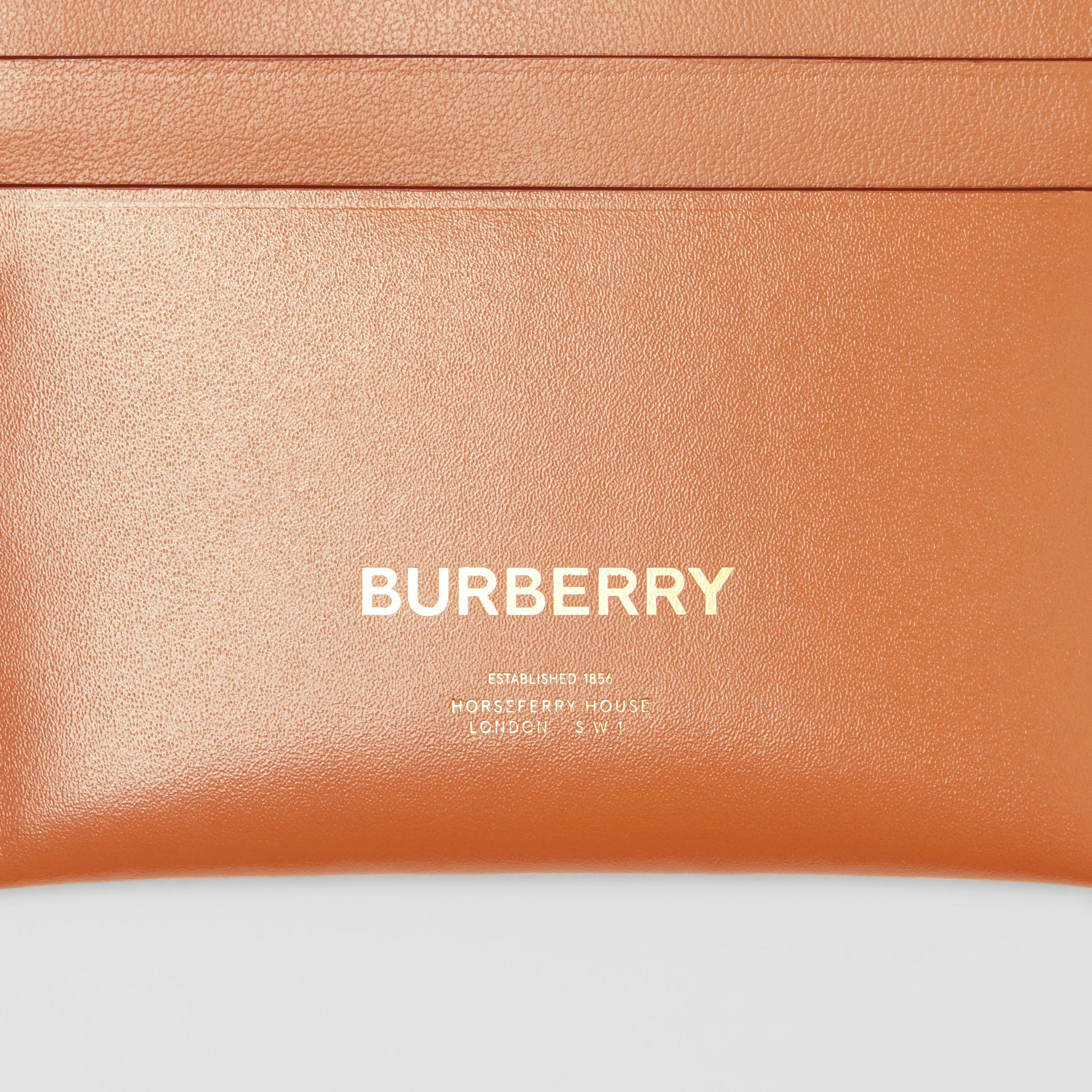 Horseferry Print Leather Card Case in Nutmeg - Women | Burberry - gallery image 1