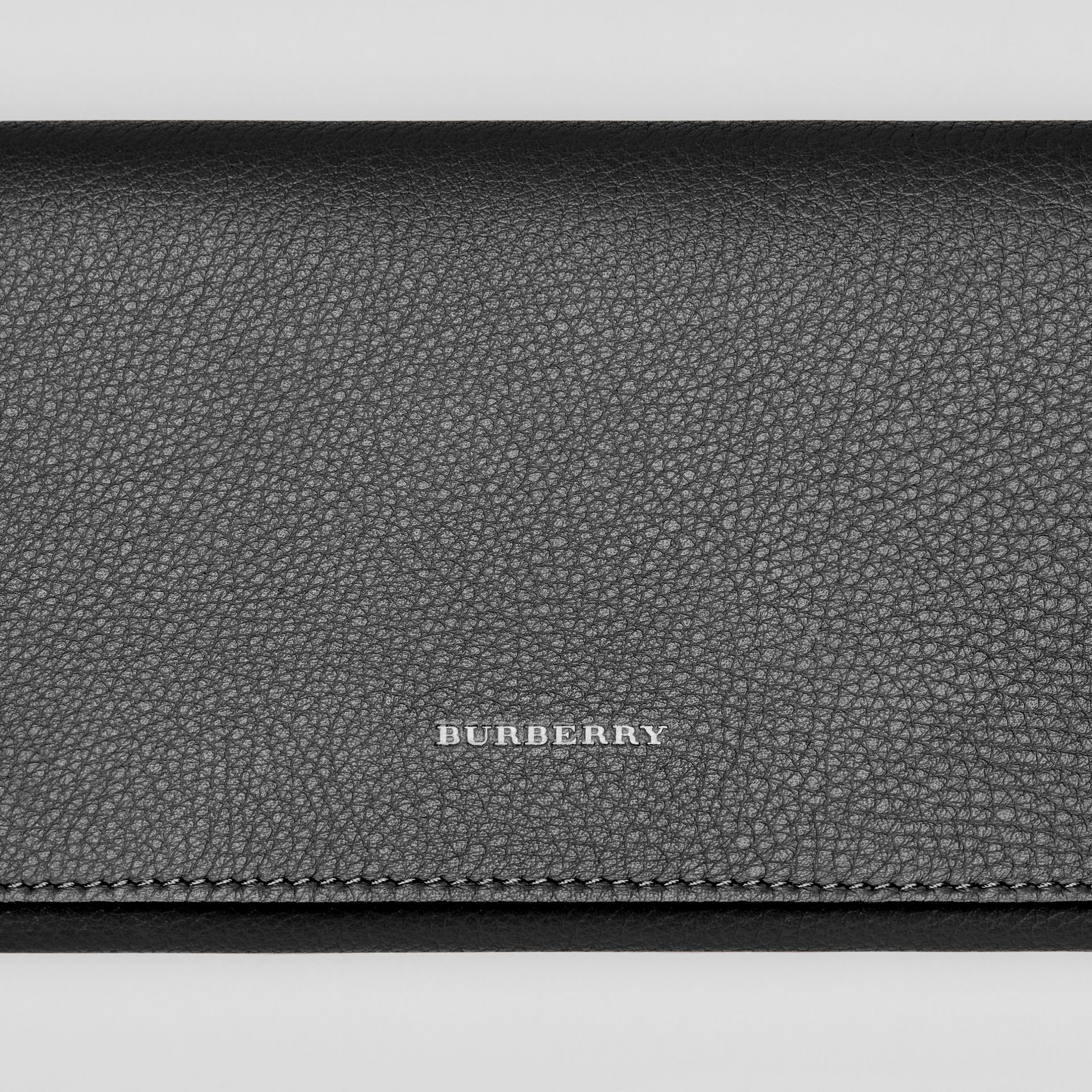 Two-tone Leather Continental Wallet in Black - Women | Burberry - gallery image 1
