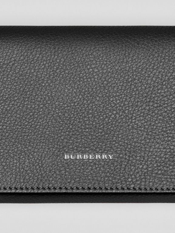 Two-tone Leather Continental Wallet in Black - Women | Burberry United Kingdom - cell image 1