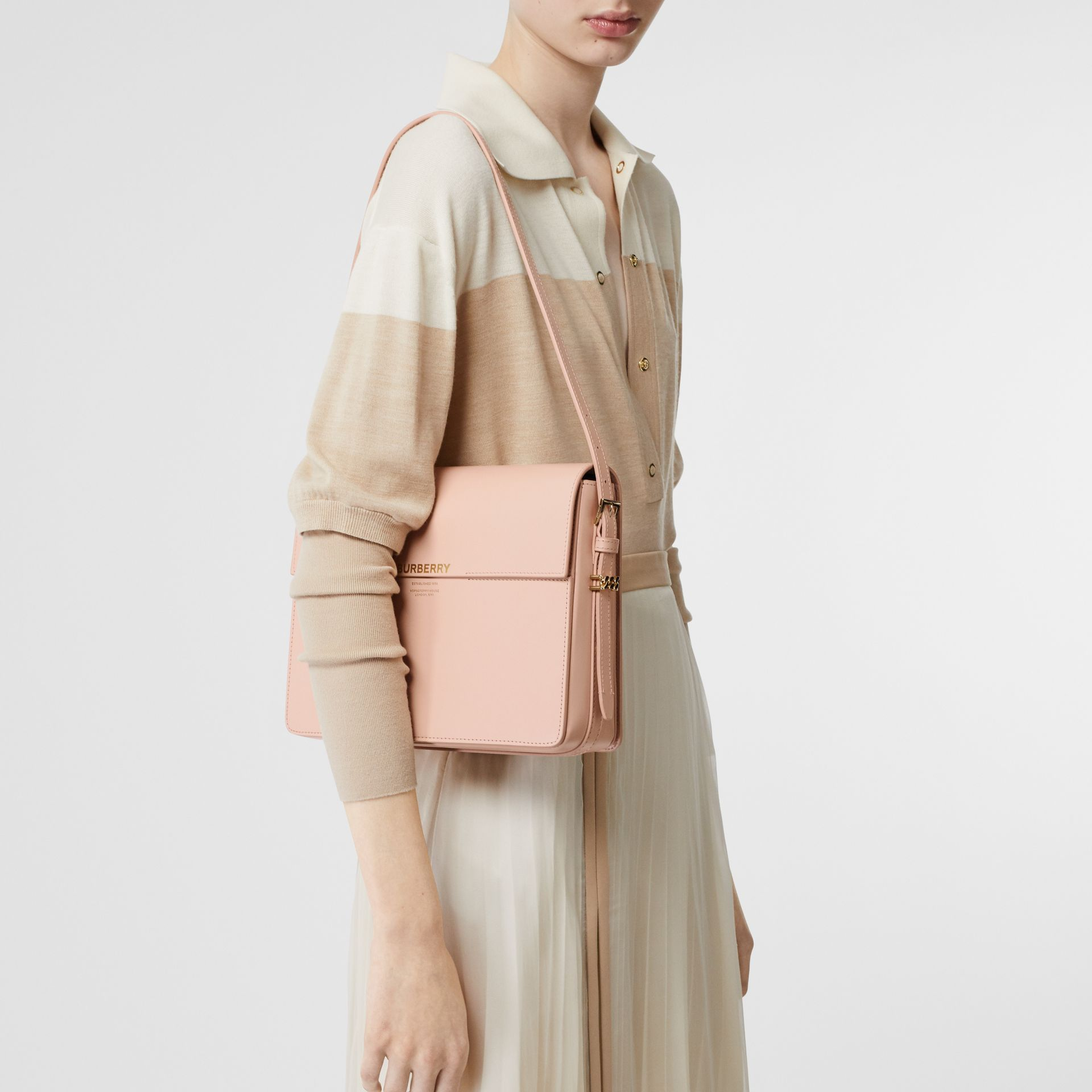 Large Leather Grace Bag in Soft Blush - Women | Burberry - gallery image 2