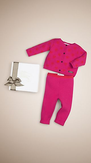 Hearts Cashmere Two-Piece Baby Gift Set