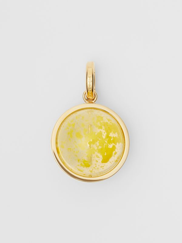 Marbled Resin 'I' Alphabet Charm in Gold/mimosa - Women | Burberry United Kingdom - cell image 3