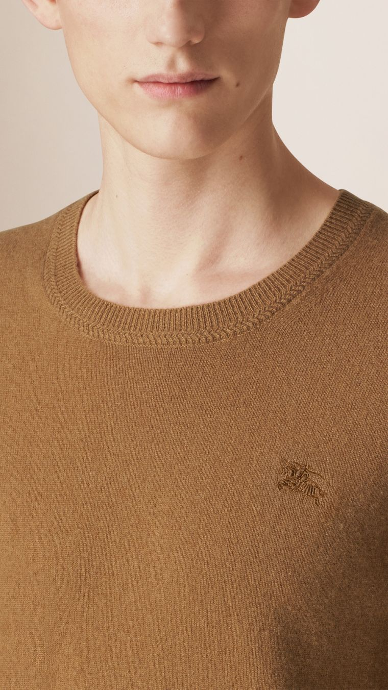 Mid camel Crew Neck Cashmere Sweater Mid Camel - cell image 2