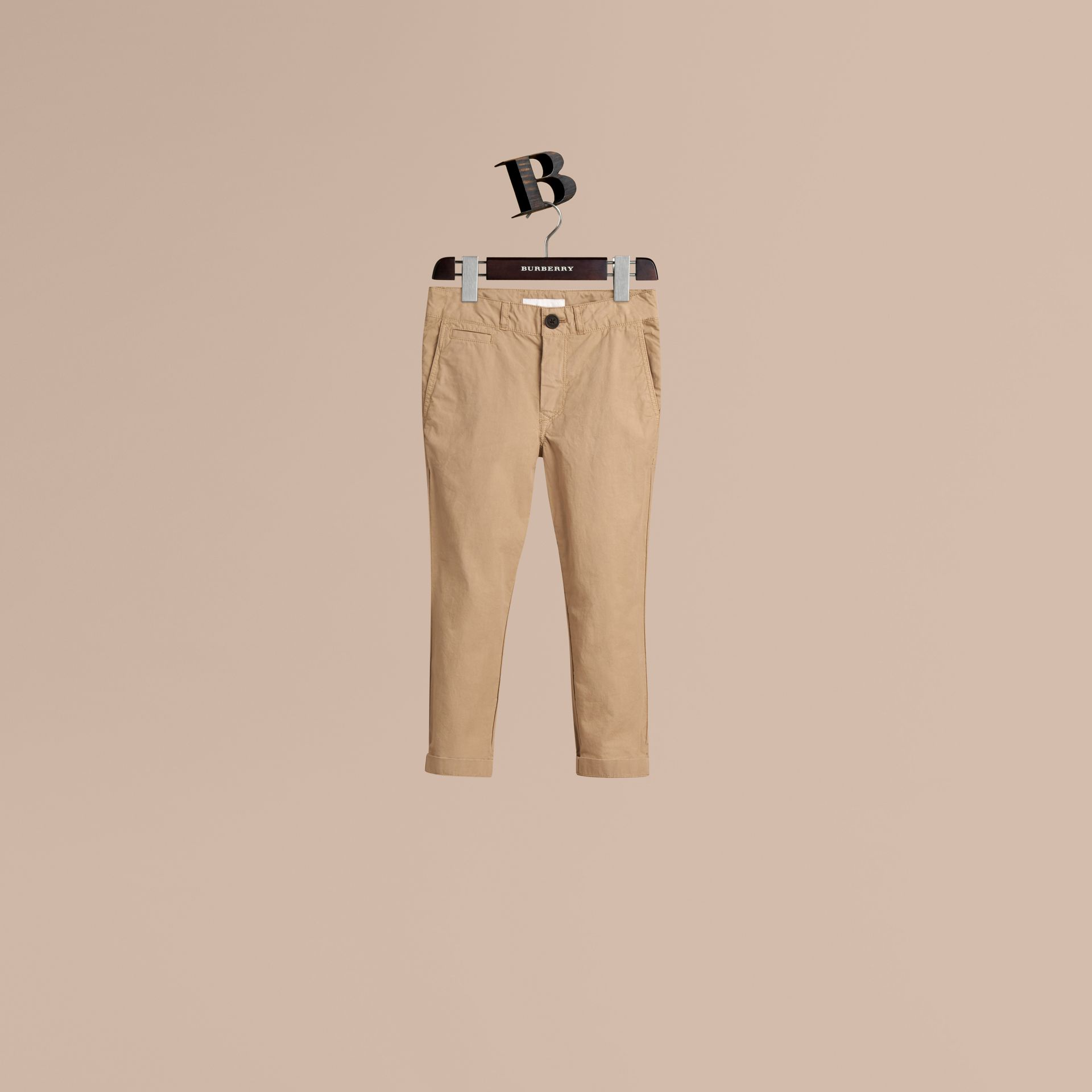 Honey Lightweight Cotton Twill Chinos - gallery image 1