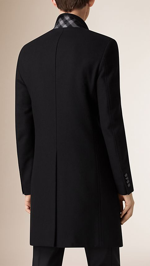 Black Wool Cashmere Topcoat - Image 3