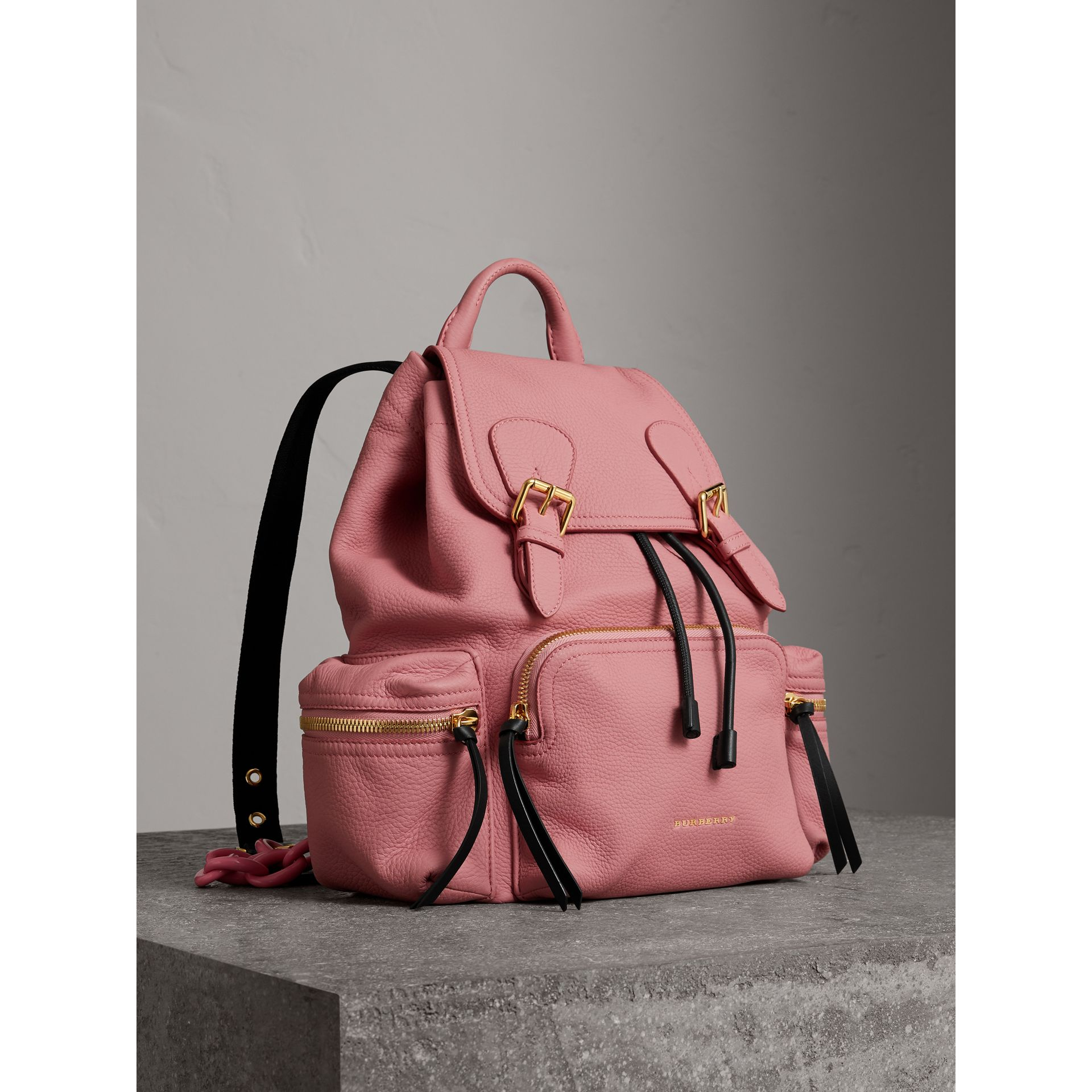 The Medium Rucksack in Deerskin with Resin Chain in Blossom Pink - Women | Burberry Australia - gallery image 0