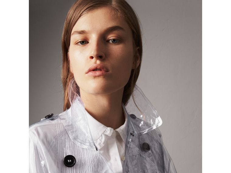 Plastic Trench Coat in Clear - Women | Burberry - cell image 1