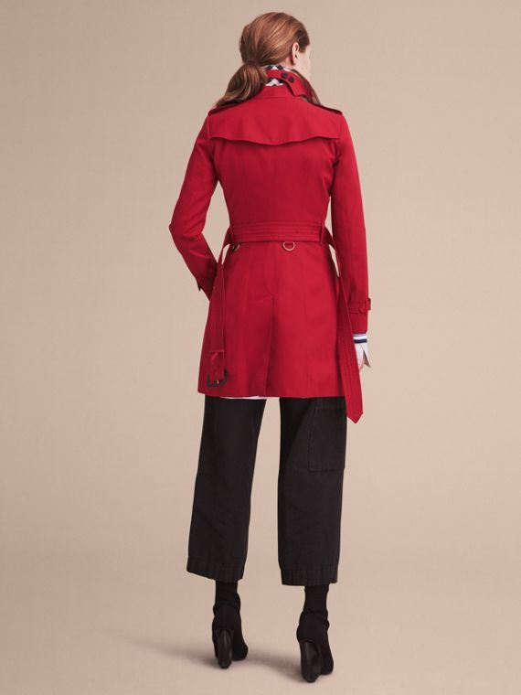 Parade red The Chelsea – Mid-length Heritage Trench Coat Parade Red - cell image 3