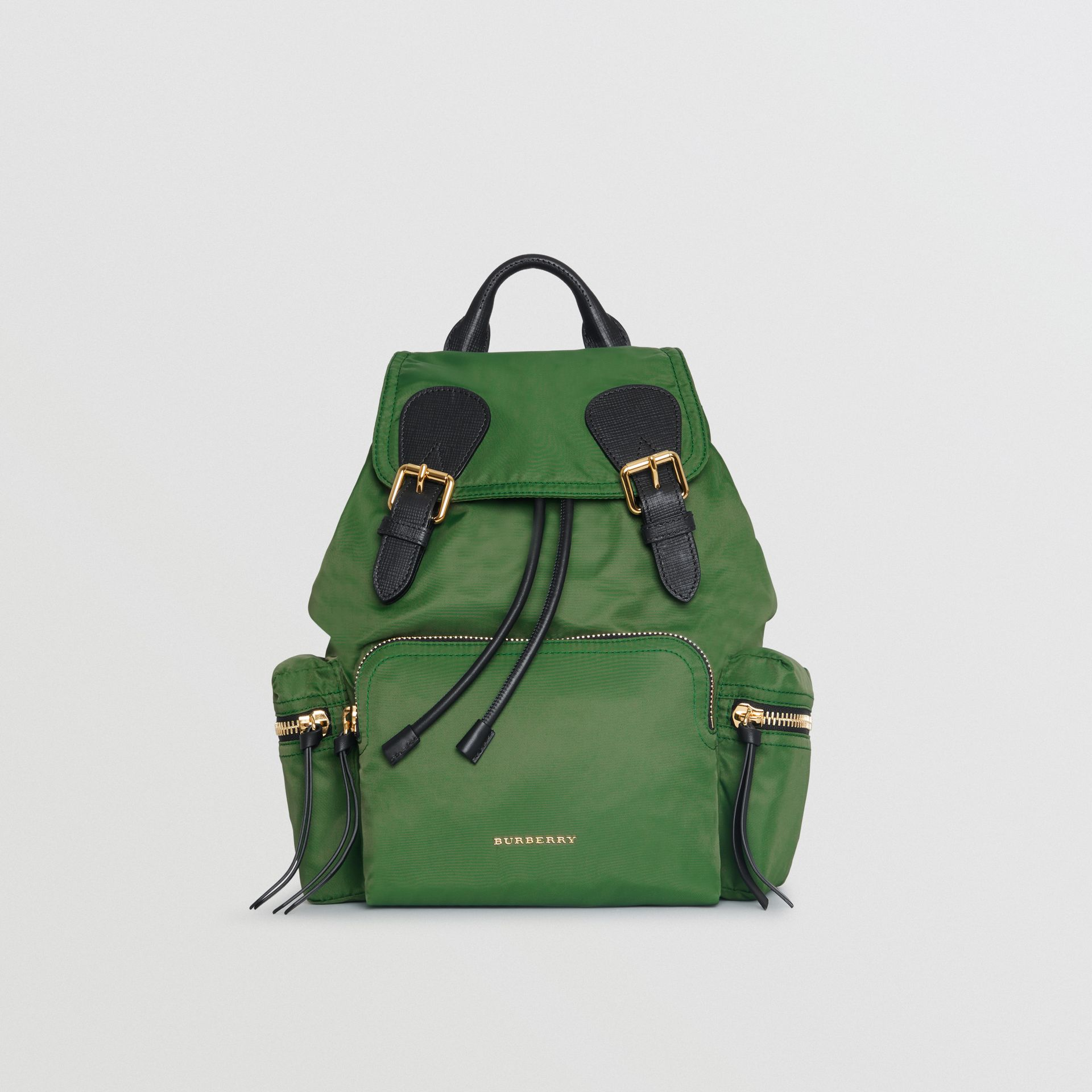 The Medium Rucksack in Technical Nylon and Leather in Racing Green - Women | Burberry - gallery image 0