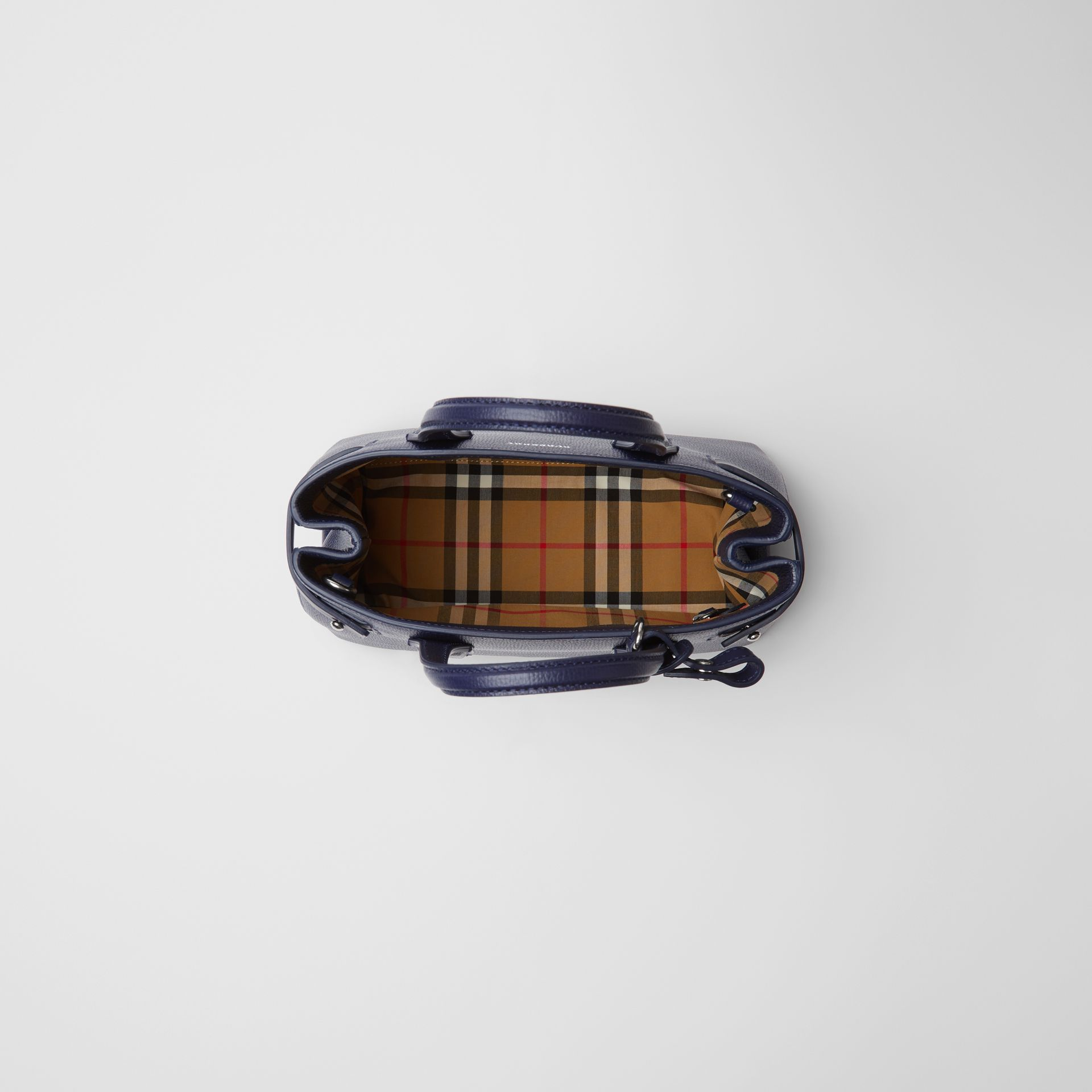The Small Banner in Leather and Vintage Check in Regency Blue - Women | Burberry - gallery image 5