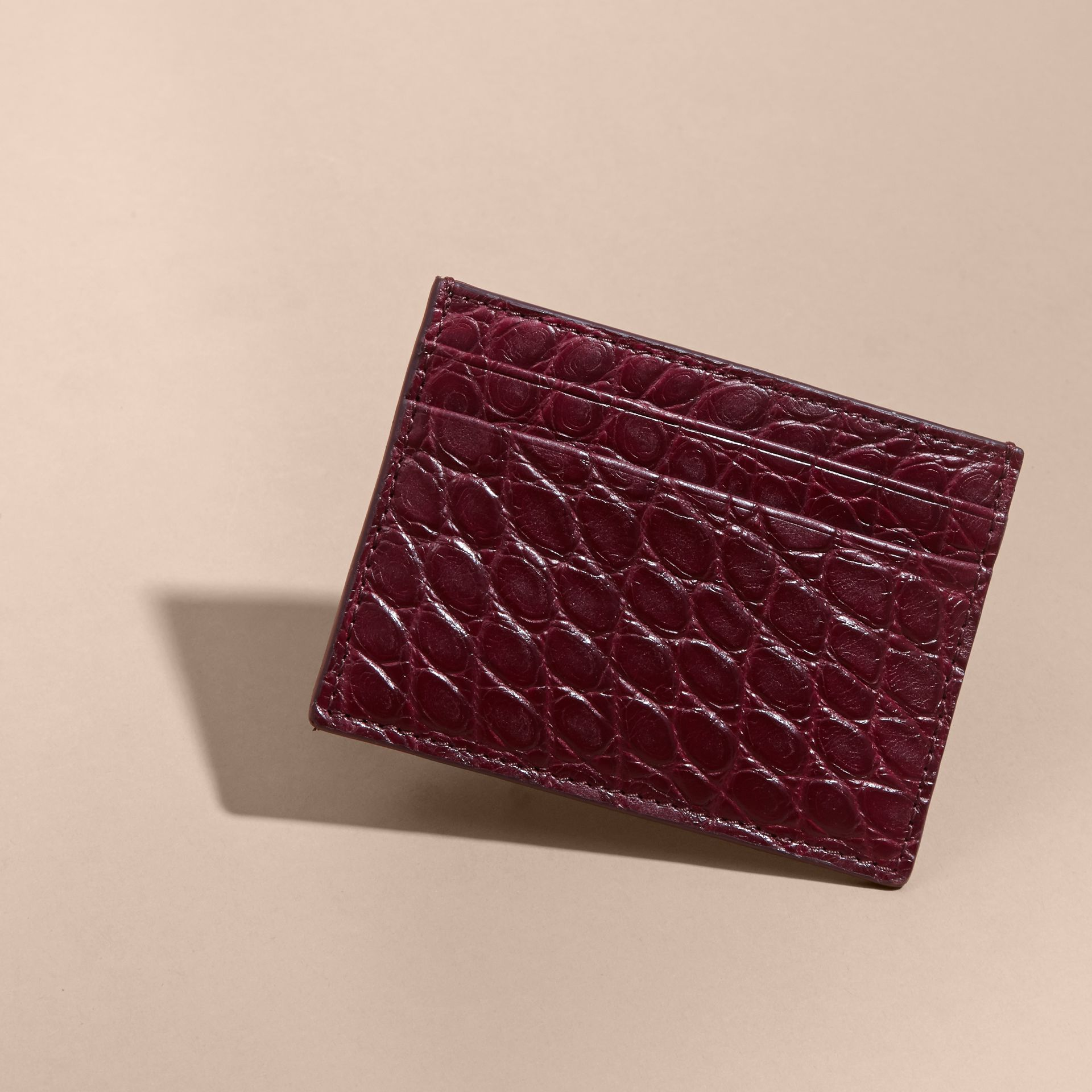 Alligator Leather Card Case - gallery image 3