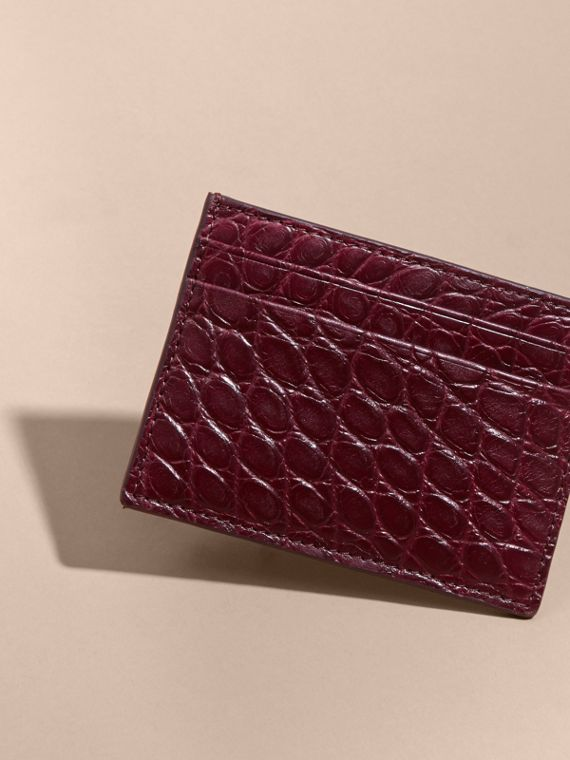 Alligator Leather Card Case - cell image 2