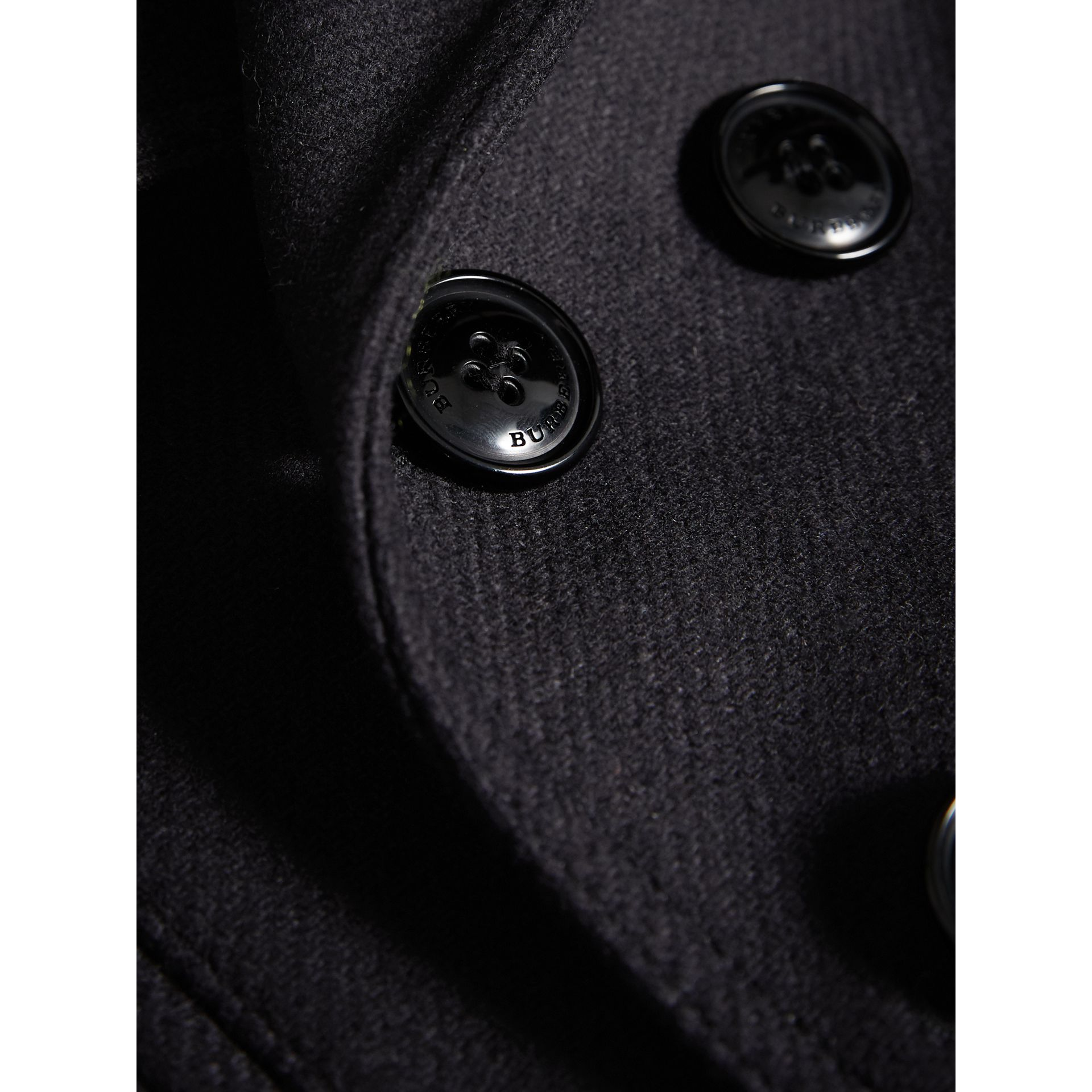 Wool Cashmere Pea Coat with Down-filled Gilet in Navy | Burberry - gallery image 1