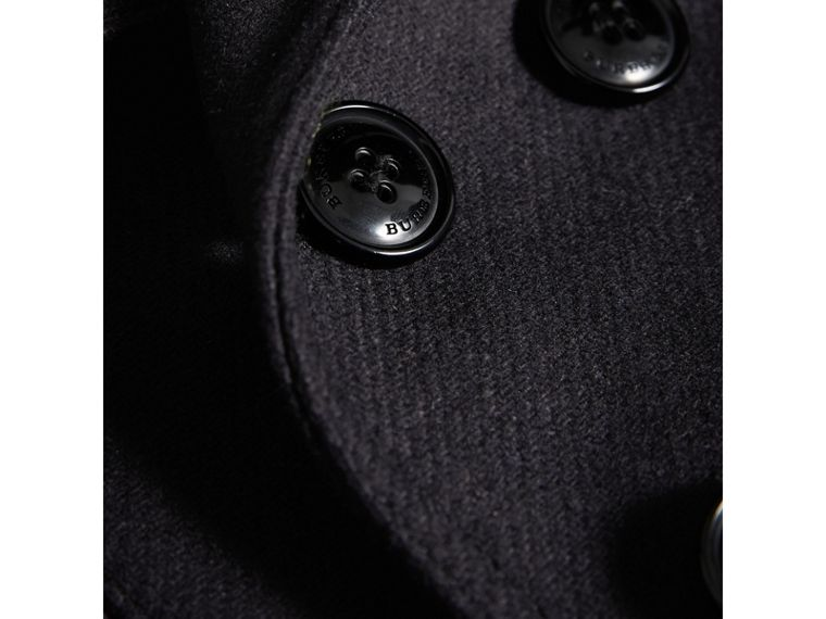 Wool Cashmere Pea Coat with Down-filled Gilet in Navy - Boy | Burberry United Kingdom - cell image 1