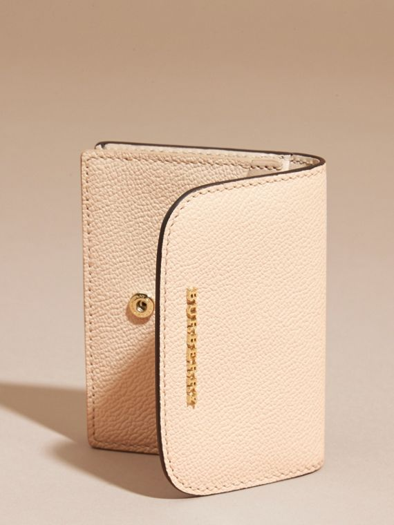 Grainy Leather Card Case in Limestone - Women | Burberry - cell image 2