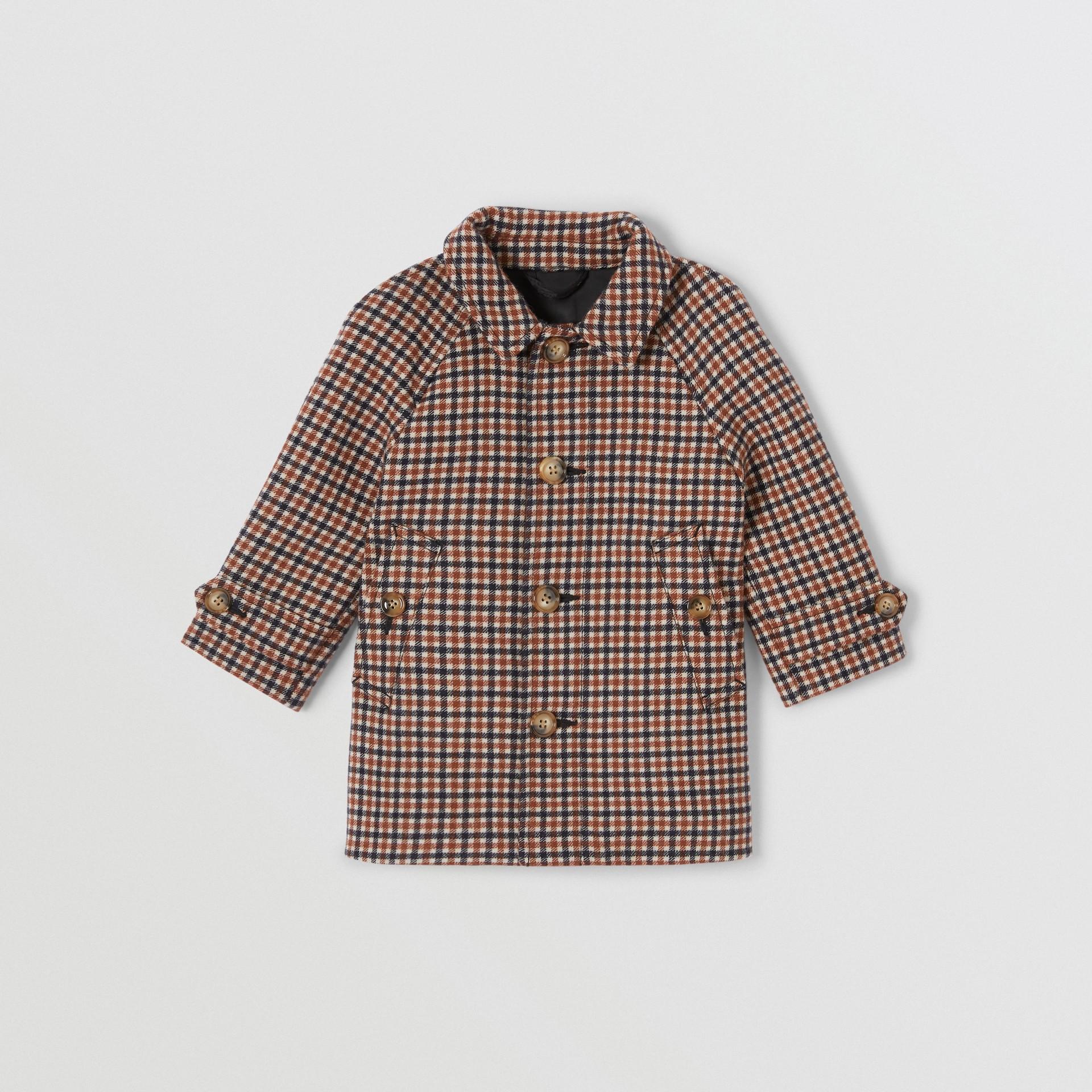 Check Wool Coat in Rust Brown - Children | Burberry - gallery image 0