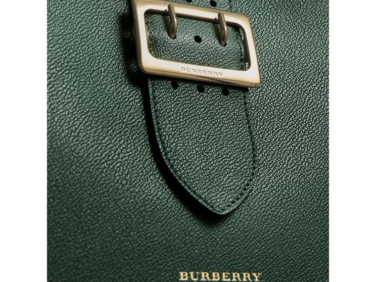The Medium Buckle Tote in Grainy Leather in Sea Green - Women | Burberry United Kingdom - cell image 1
