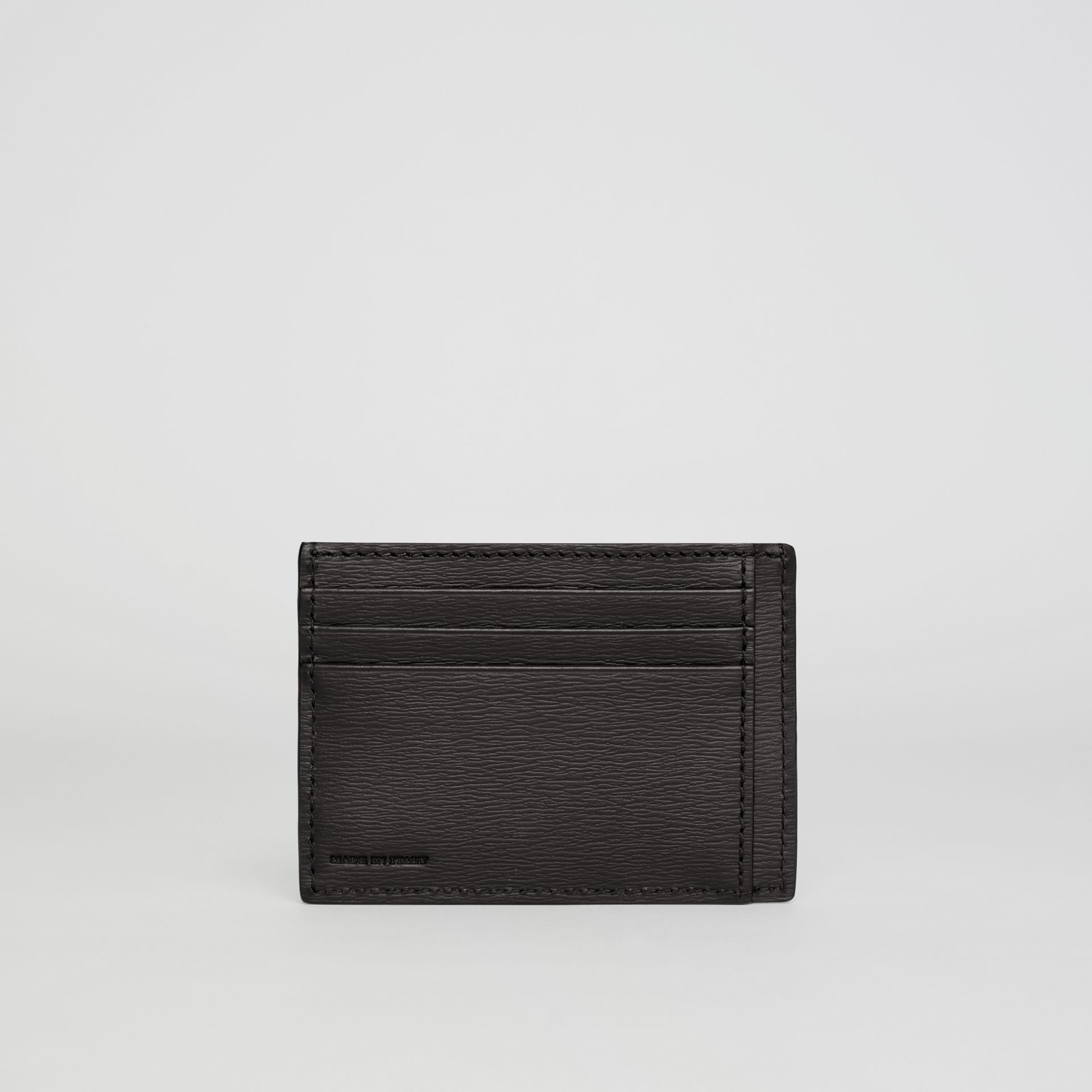 London Leather Card Case in Black - Men | Burberry Australia - gallery image 2