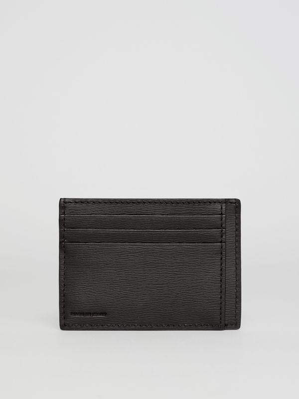 London Leather Card Case in Black - Men | Burberry Australia - cell image 2