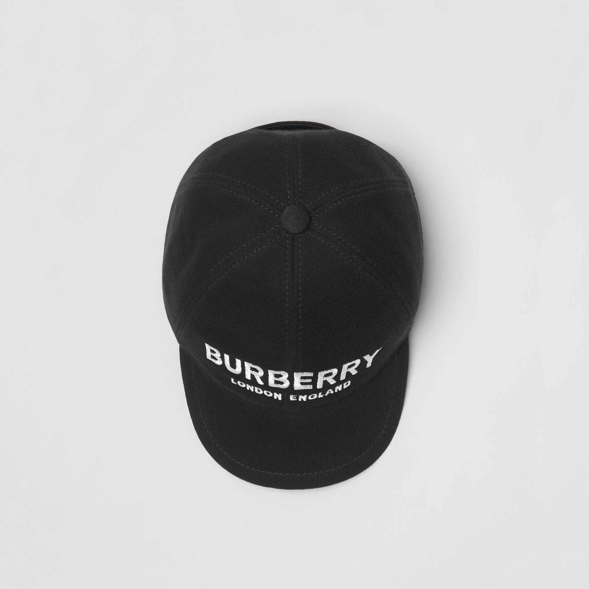 Embroidered Logo Baseball Cap in Black - Children | Burberry United Kingdom - gallery image 3