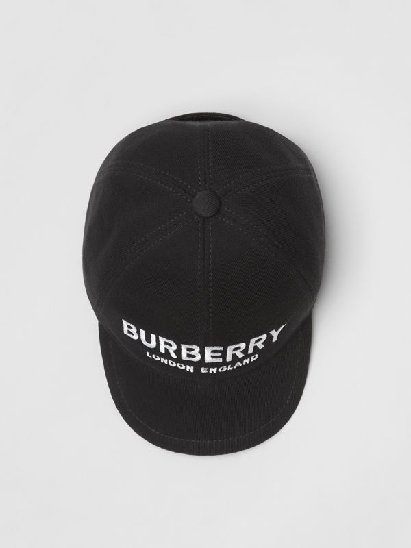 Embroidered Logo Baseball Cap in Black - Children | Burberry Singapore - cell image 3