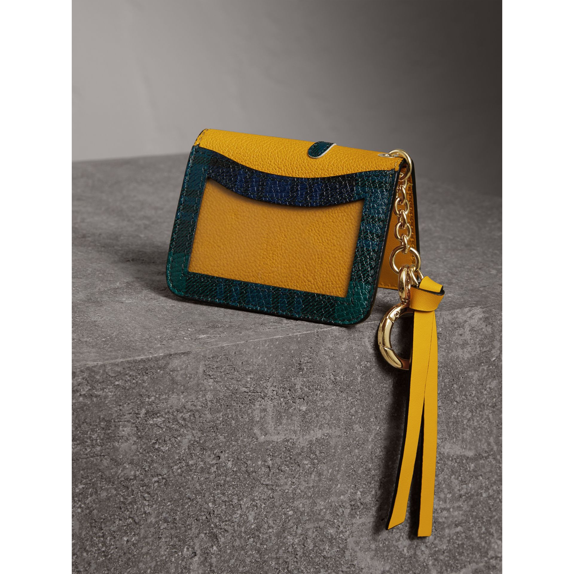 Creature Motif Leather ID Card Case Charm in Yellow Ochre | Burberry - gallery image 2