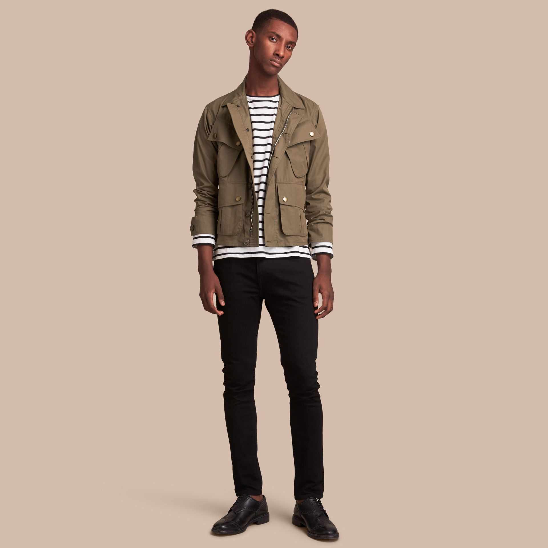 Technical Cotton Canvas Field Jacket - gallery image 1