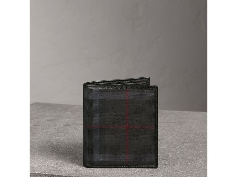 Horseferry Check ID Wallet in Charcoal/black - Men | Burberry - cell image 4