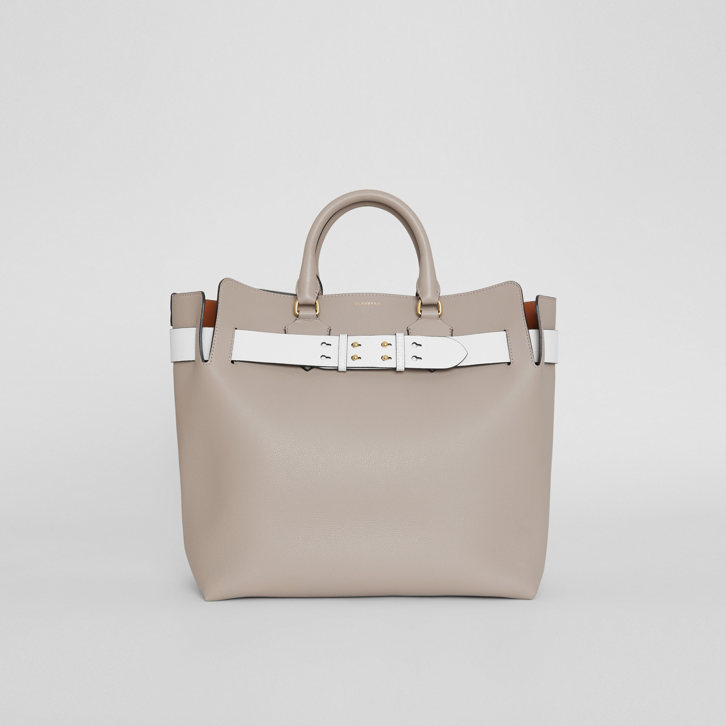 The Large Leather Belt Bag in Mineral Grey | Burberry - 1