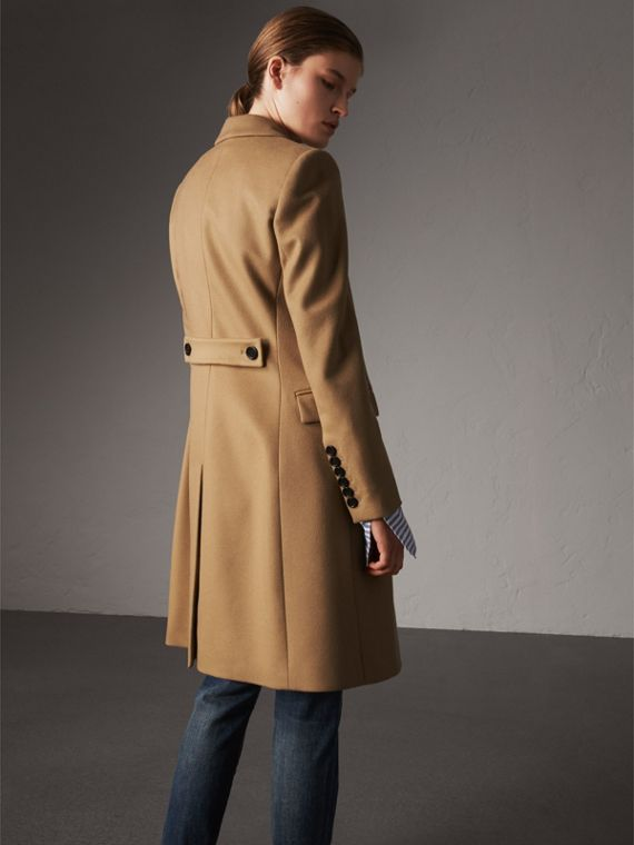 Wool Cashmere Tailored Coat in Camel - Women | Burberry Hong Kong - cell image 2