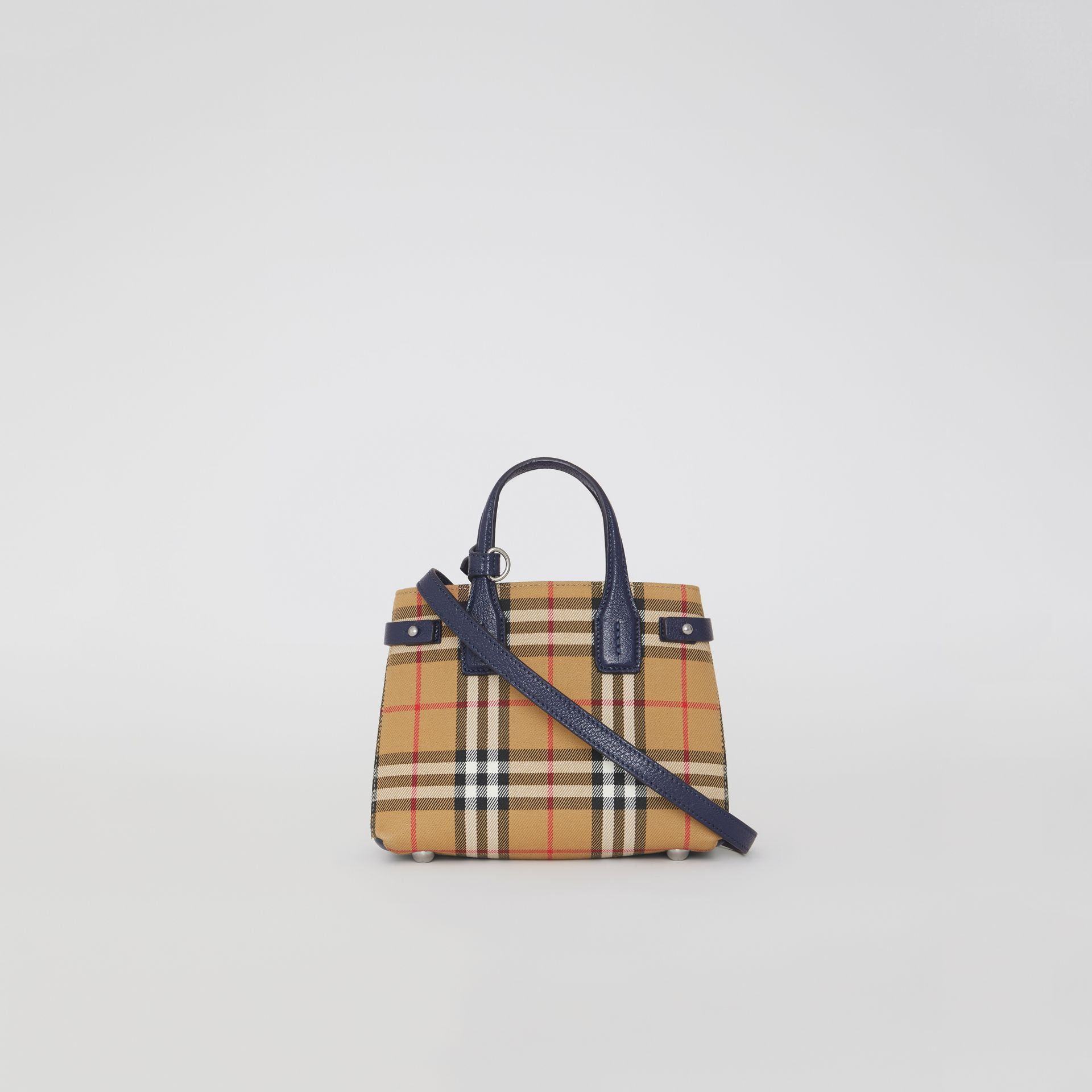 The Baby Banner in Vintage Check and Leather in Regency Blue - Women | Burberry - gallery image 7