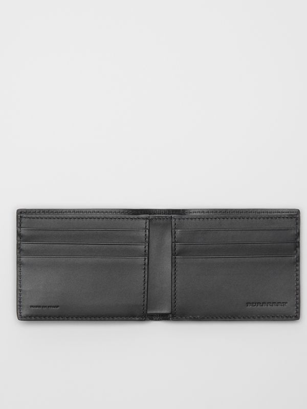 London Leather Bifold Wallet in Navy - Men | Burberry Singapore - cell image 2