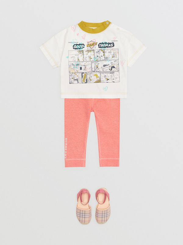 Comic Strip Print Cotton T-Shirt in Light Stone - Children | Burberry - cell image 2