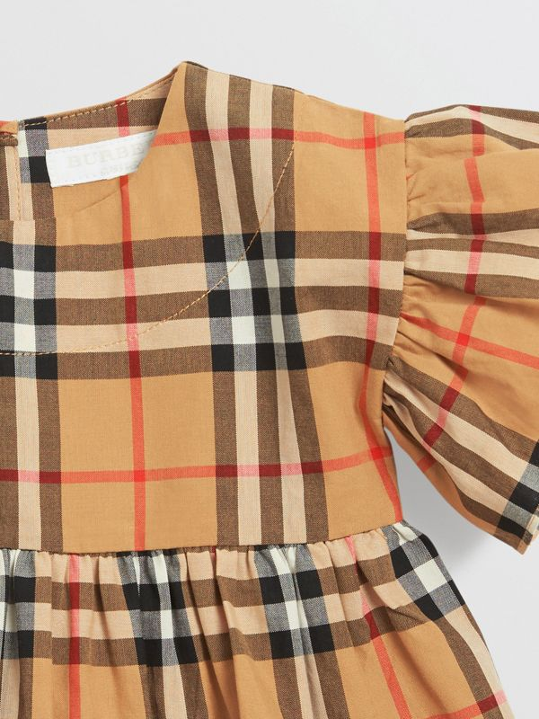 Ruffle Detail Vintage Check Dress with Bloomers in Antique Yellow - Children | Burberry United States - cell image 3