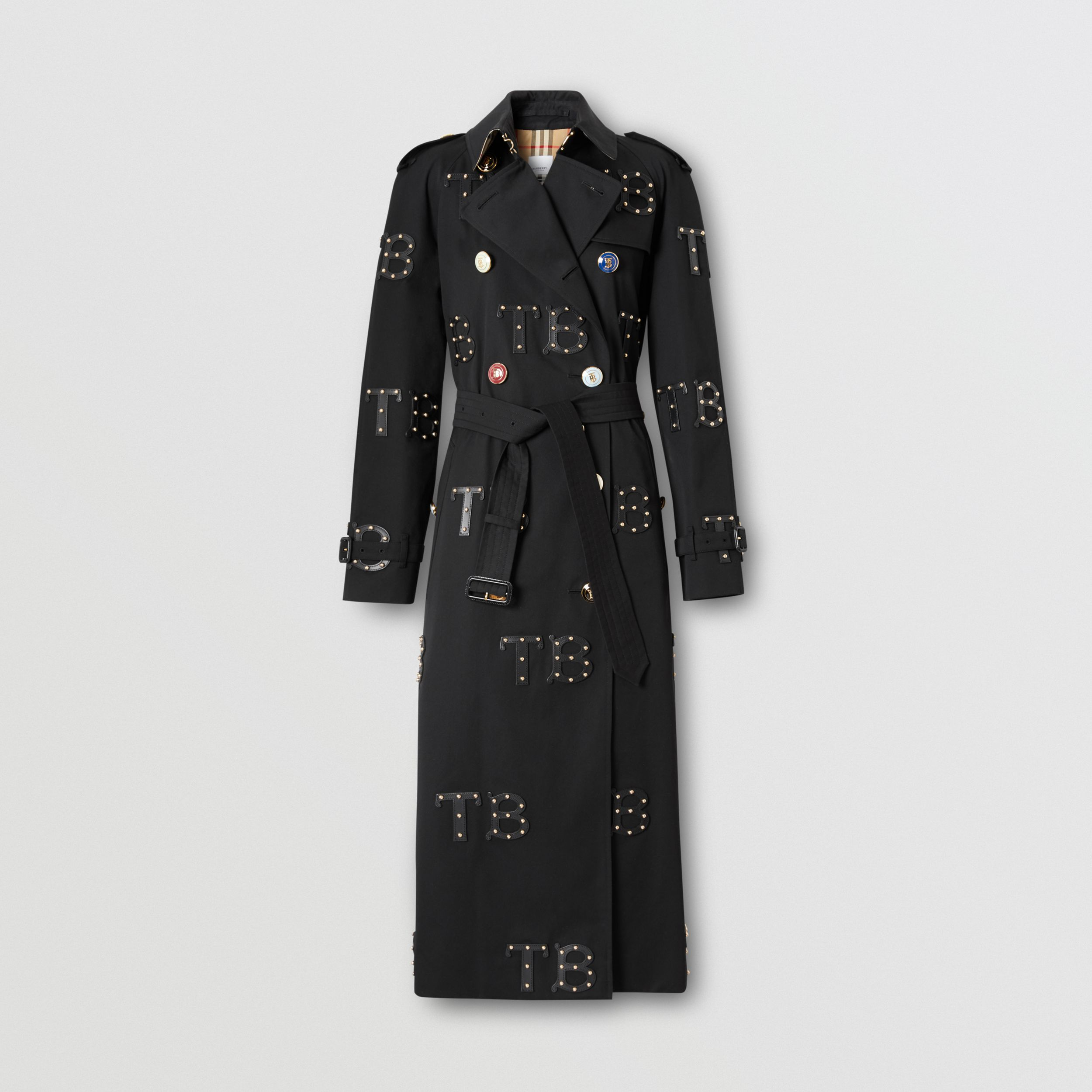The Long Waterloo Trench Coat in Black | Burberry - 1