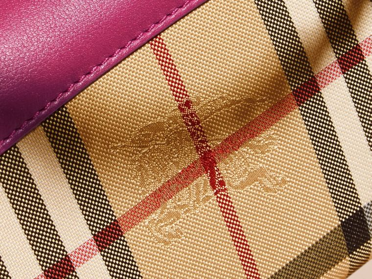Brilliant fuchsia Horseferry Check and Leather Wallet with Chain Brilliant Fuchsia - cell image 1