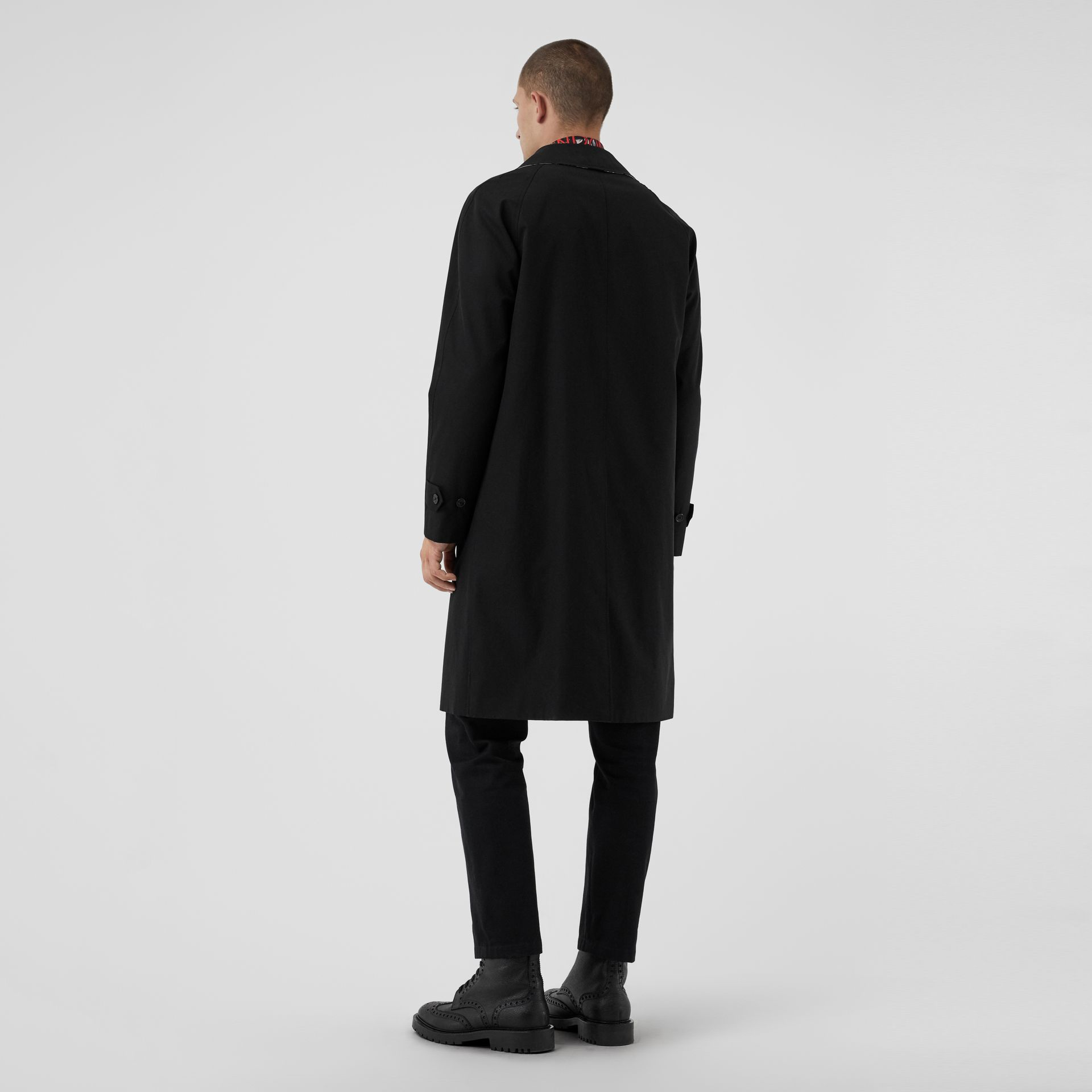 Tropical Gabardine Car Coat in Black - Men | Burberry United States - gallery image 2