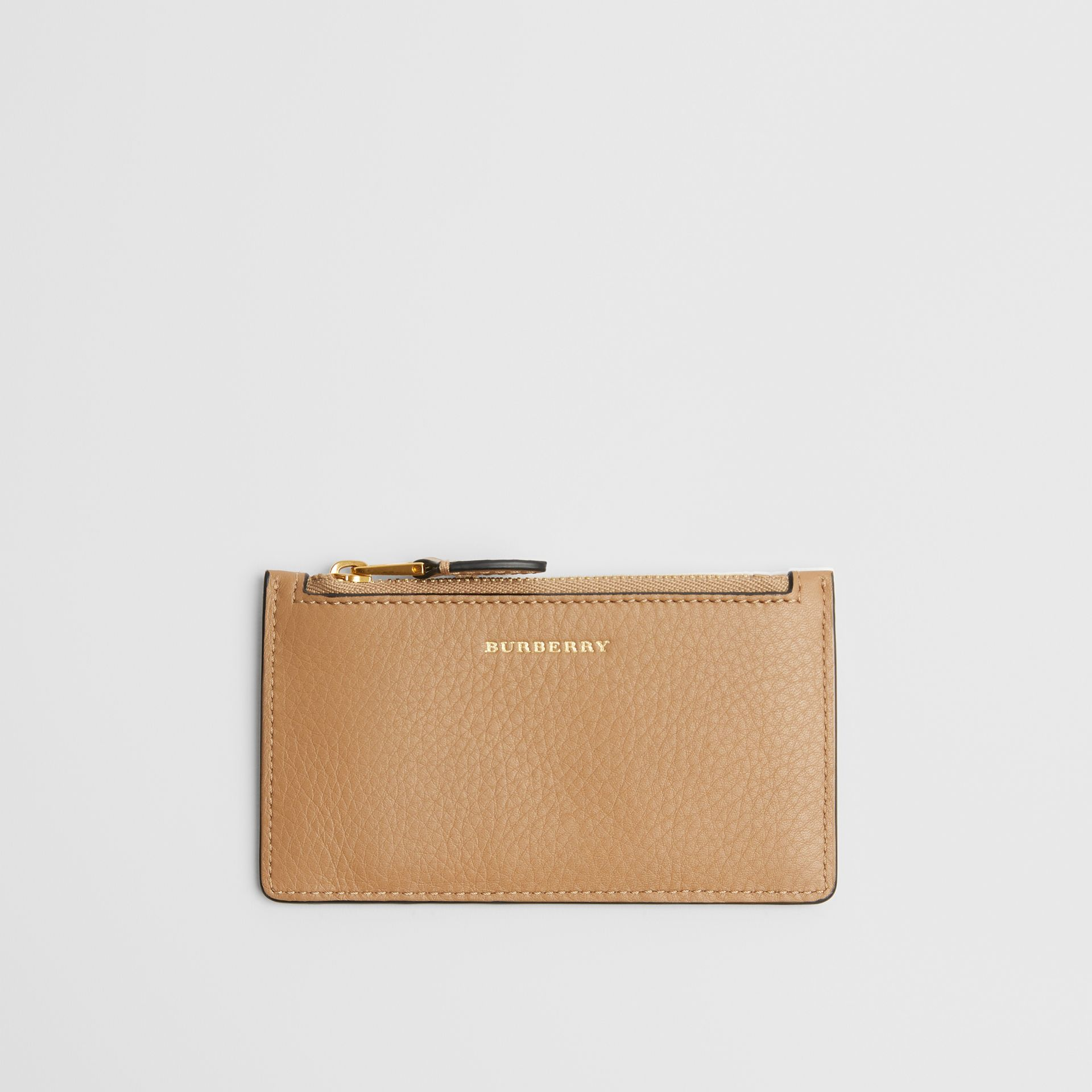 Two-tone Leather Card Case in Light Camel - Women | Burberry - gallery image 0
