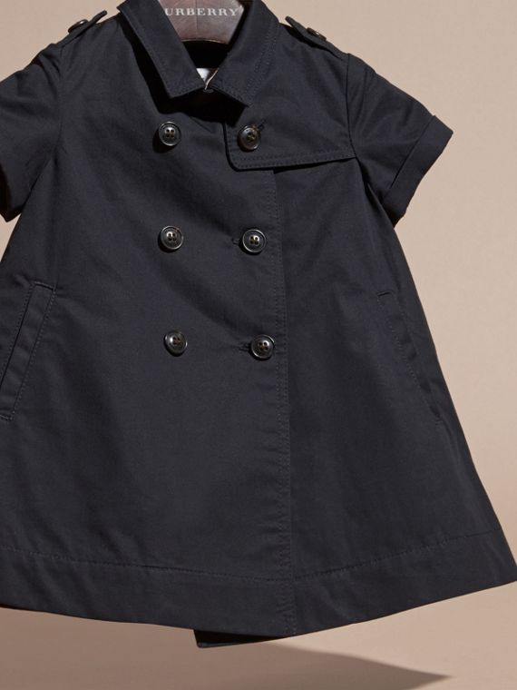 Navy Cotton Trench Dress Navy - cell image 2