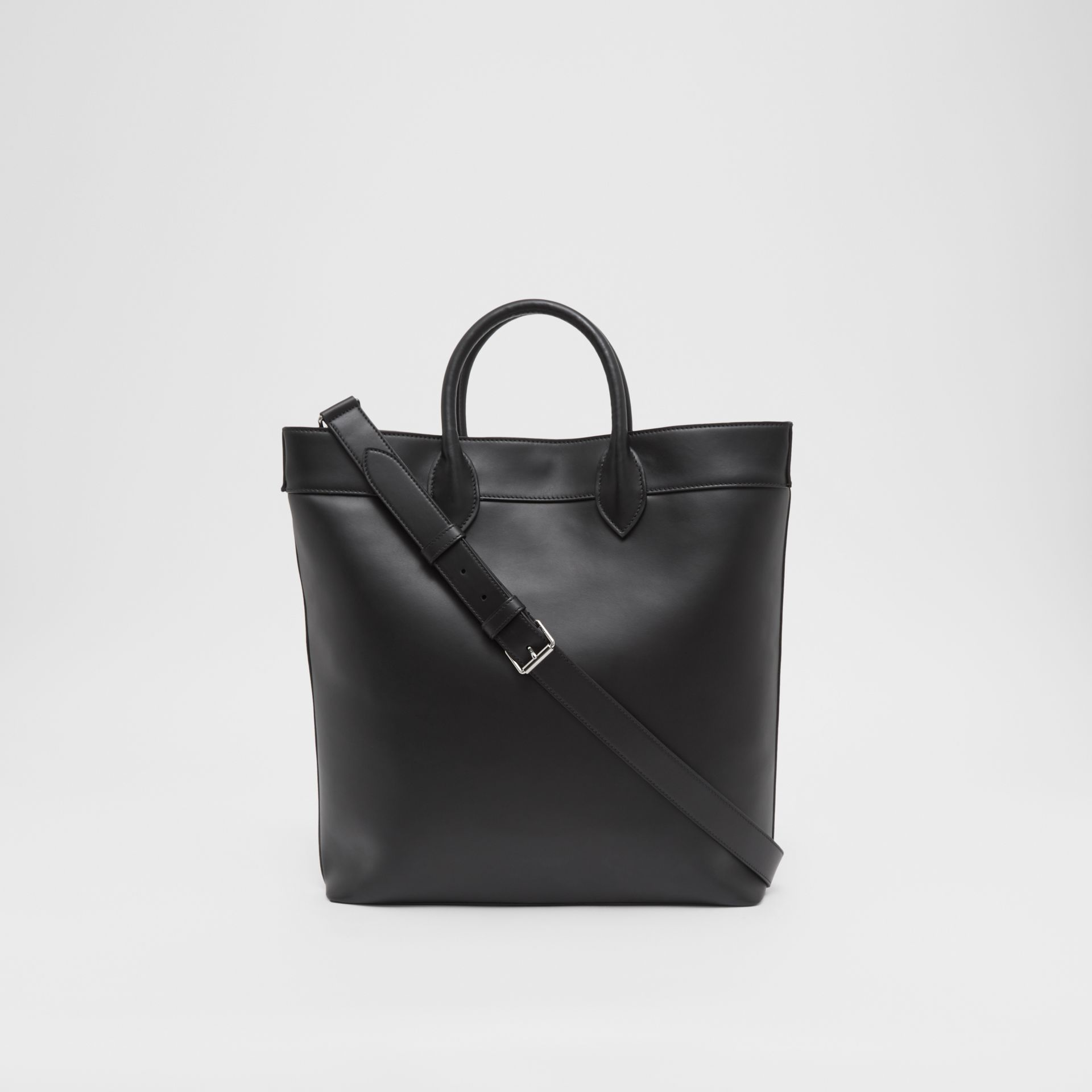 Leather Tote in Black - Men | Burberry - gallery image 9