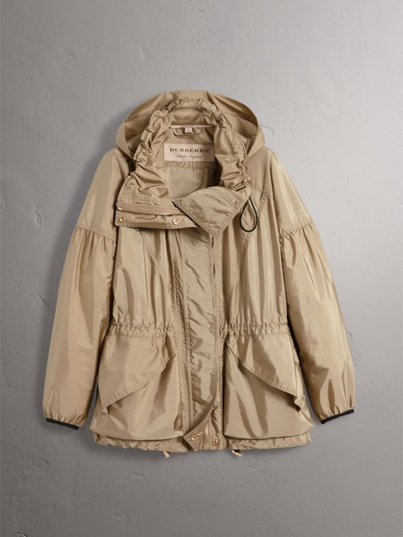 Packaway Hood Lightweight Rain Jacket in Sisal - Women | Burberry - cell image 3