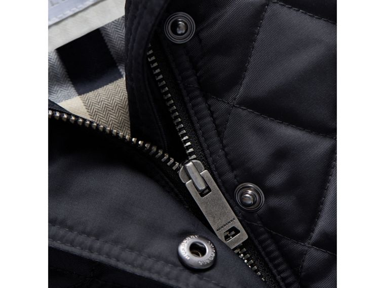 Quilted Jacket in Navy | Burberry Australia - cell image 1