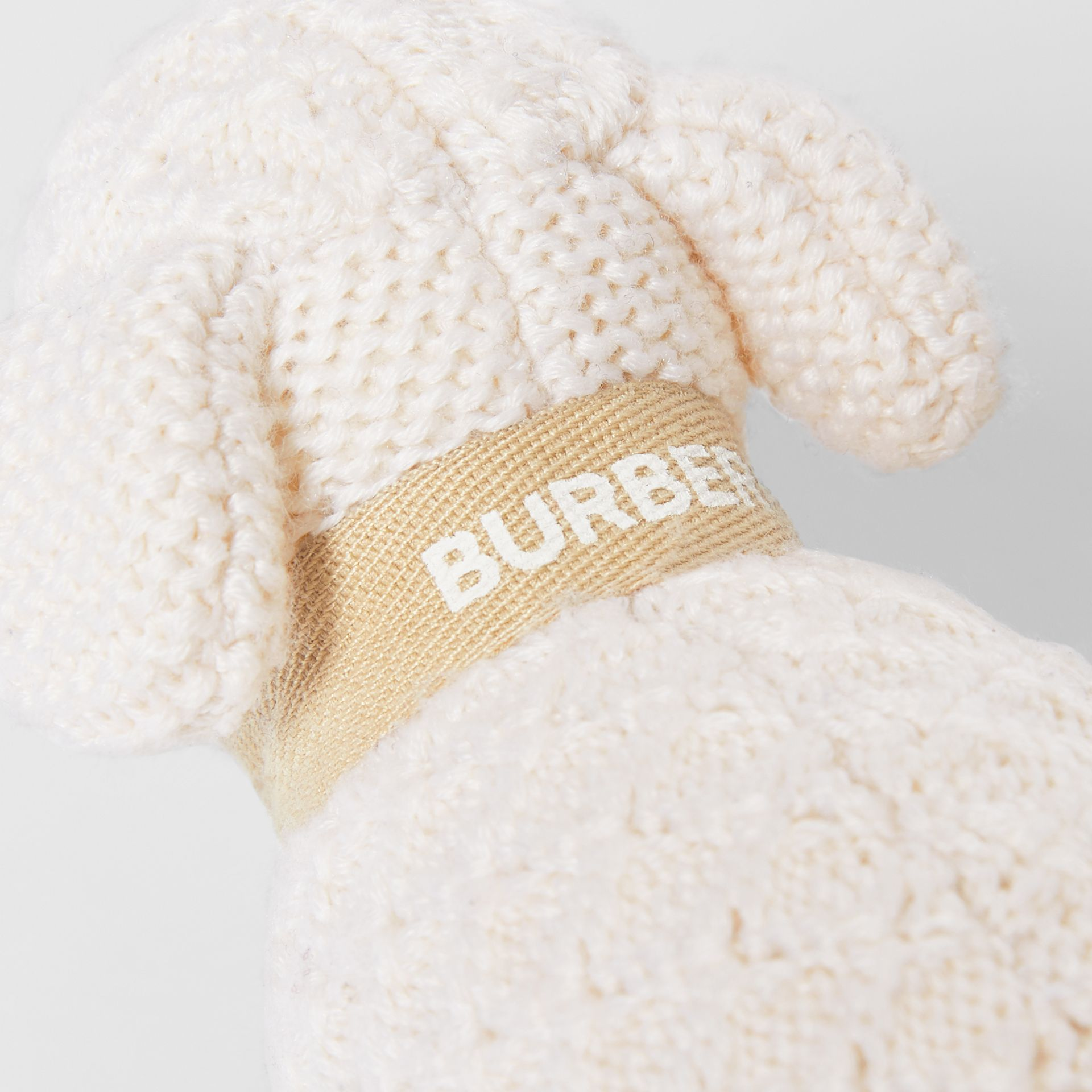 Logo Print Wool Cashmere Six-piece Baby Gift Set in Ivory - Children | Burberry United Kingdom - gallery image 11