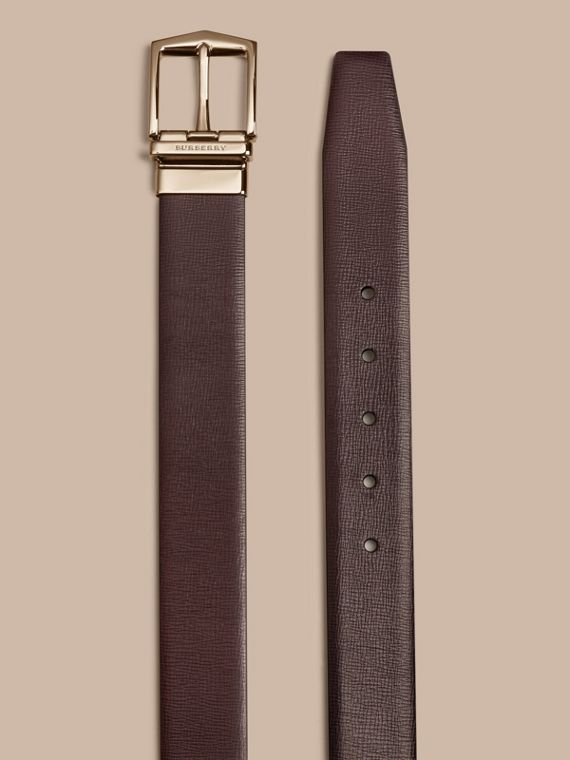 Wine/black Reversible London Leather Belt Wine/black - cell image 2