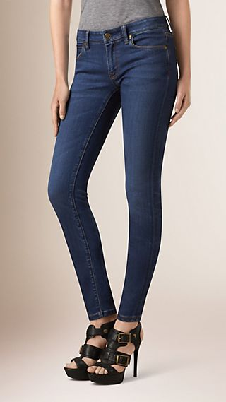 Jean skinny taille basse ultra-stretch