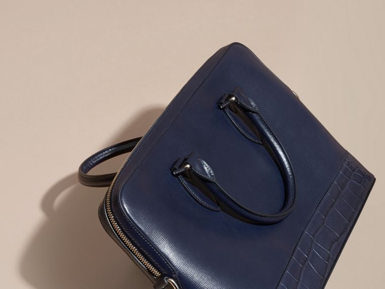 The Slim Barrow in London Leather and Alligator Dark Navy - cell image 1